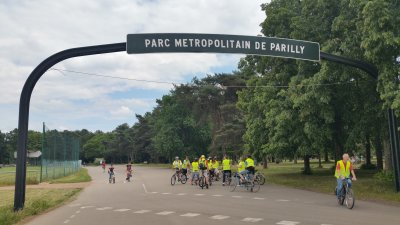 Entrée du parc de Parilly {JPEG}